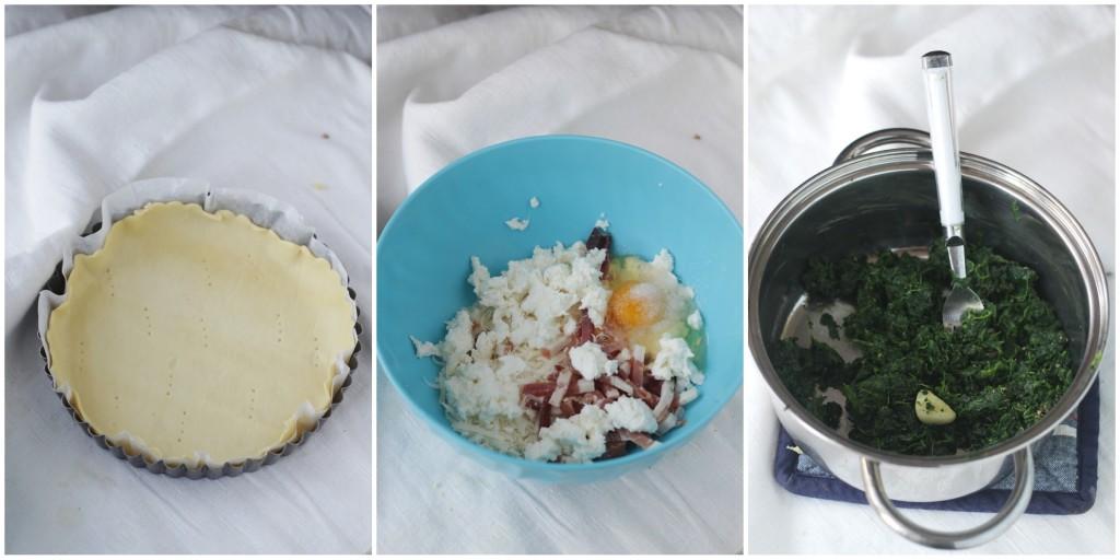 passo passo torta di spinaci