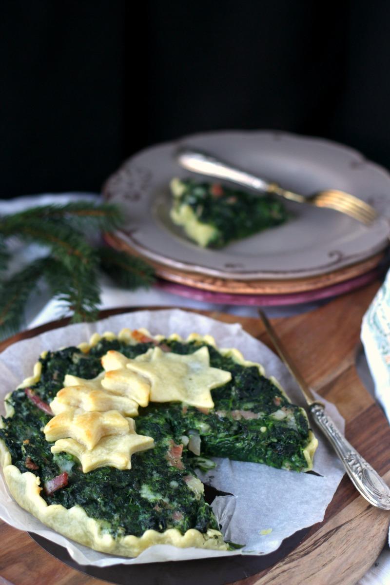 torta salata spinaci e mozzarella