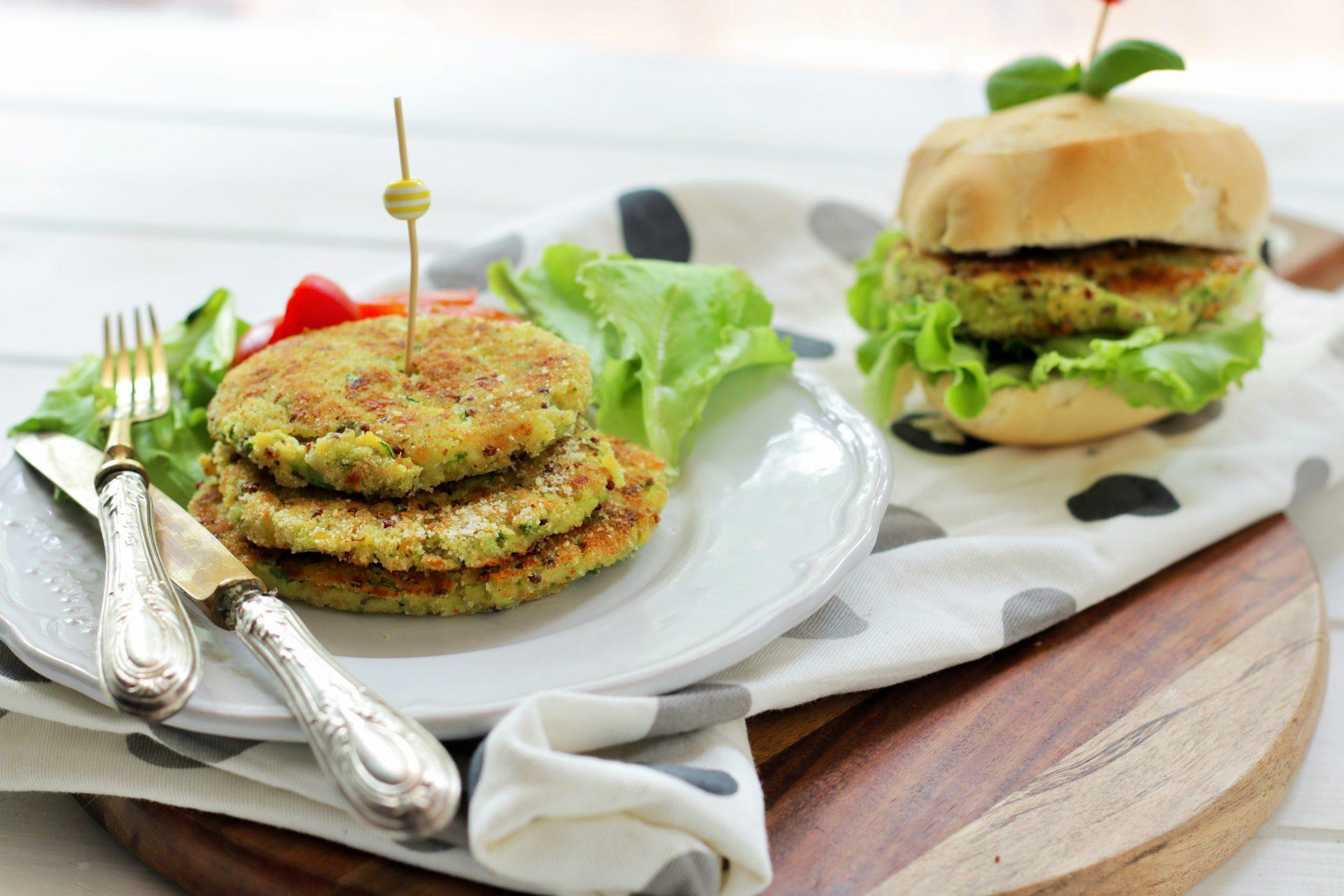 hamburger di quinoa e zucchine