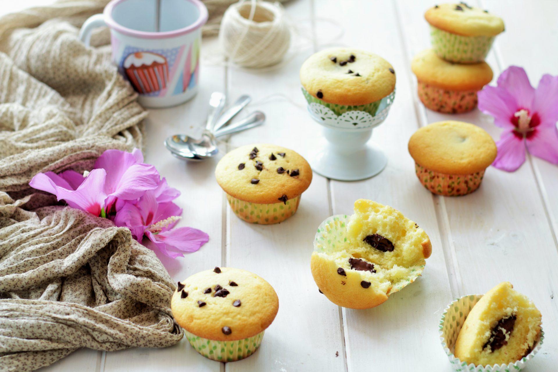 muffin cuore di cioccolata
