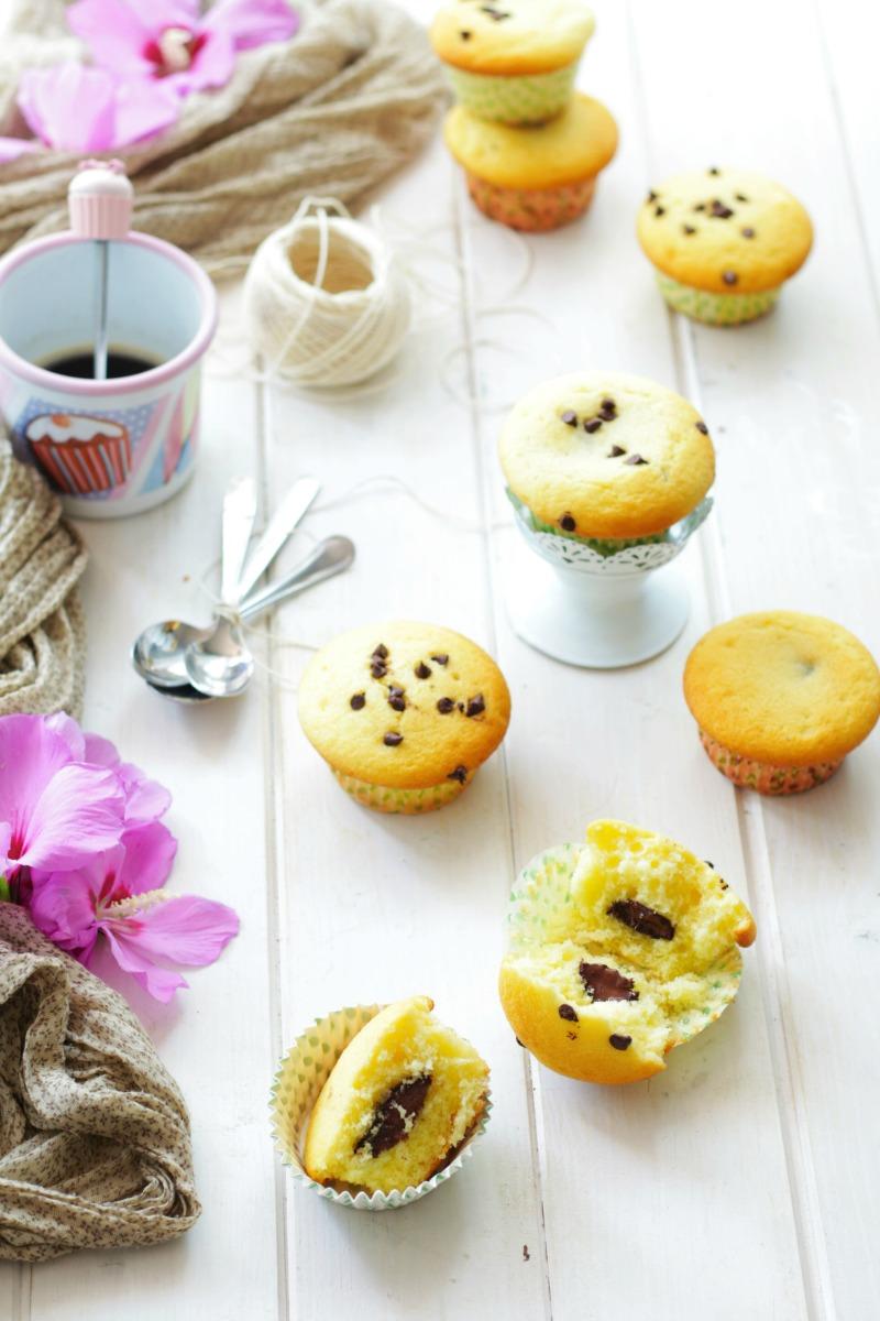 muffin cuore di cioccolato