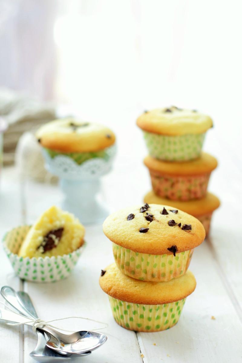 muffin con cuore di cioccolata