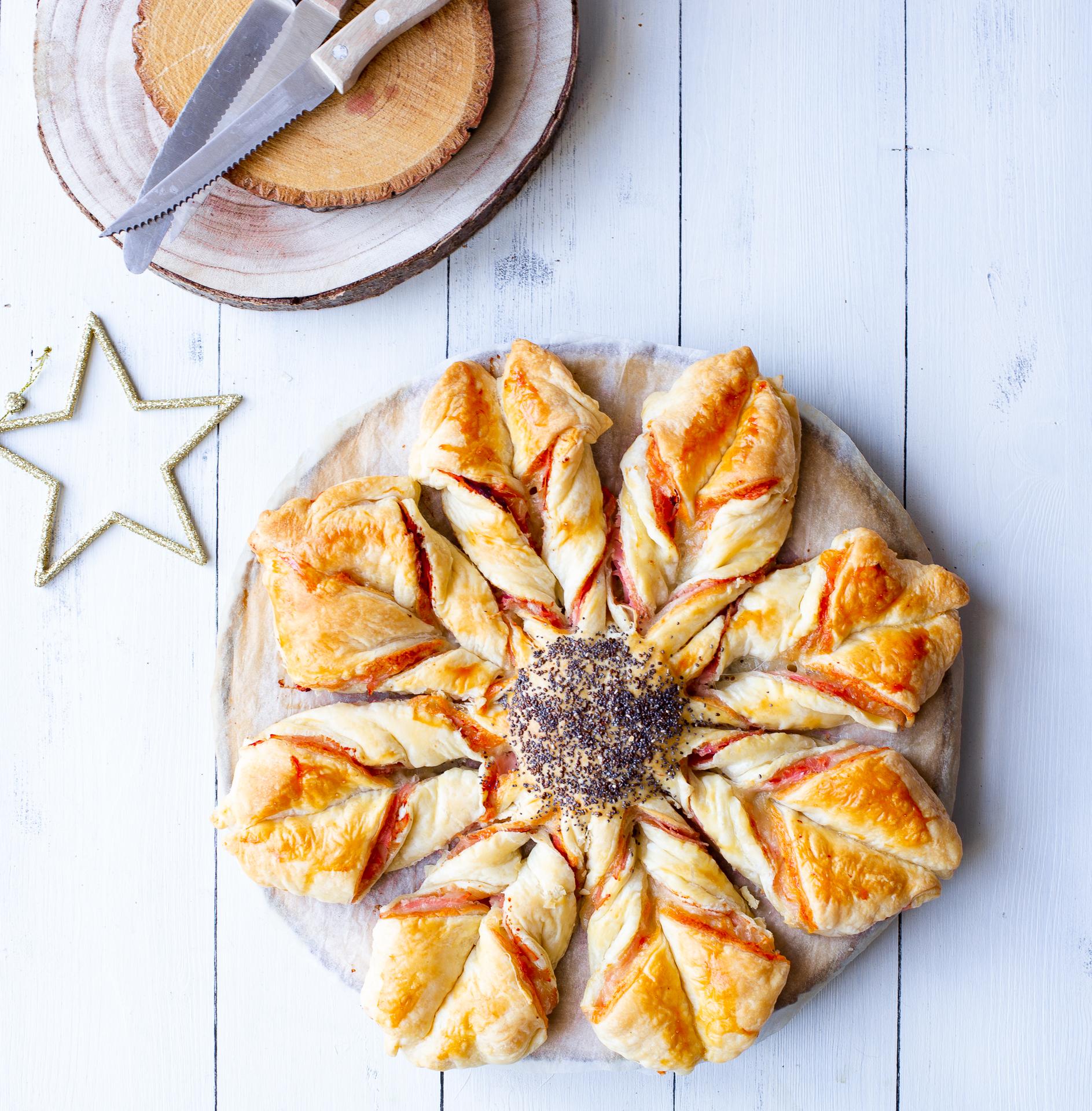 Torta Salata Stella Di Natale.Stella Di Sfoglia Salata