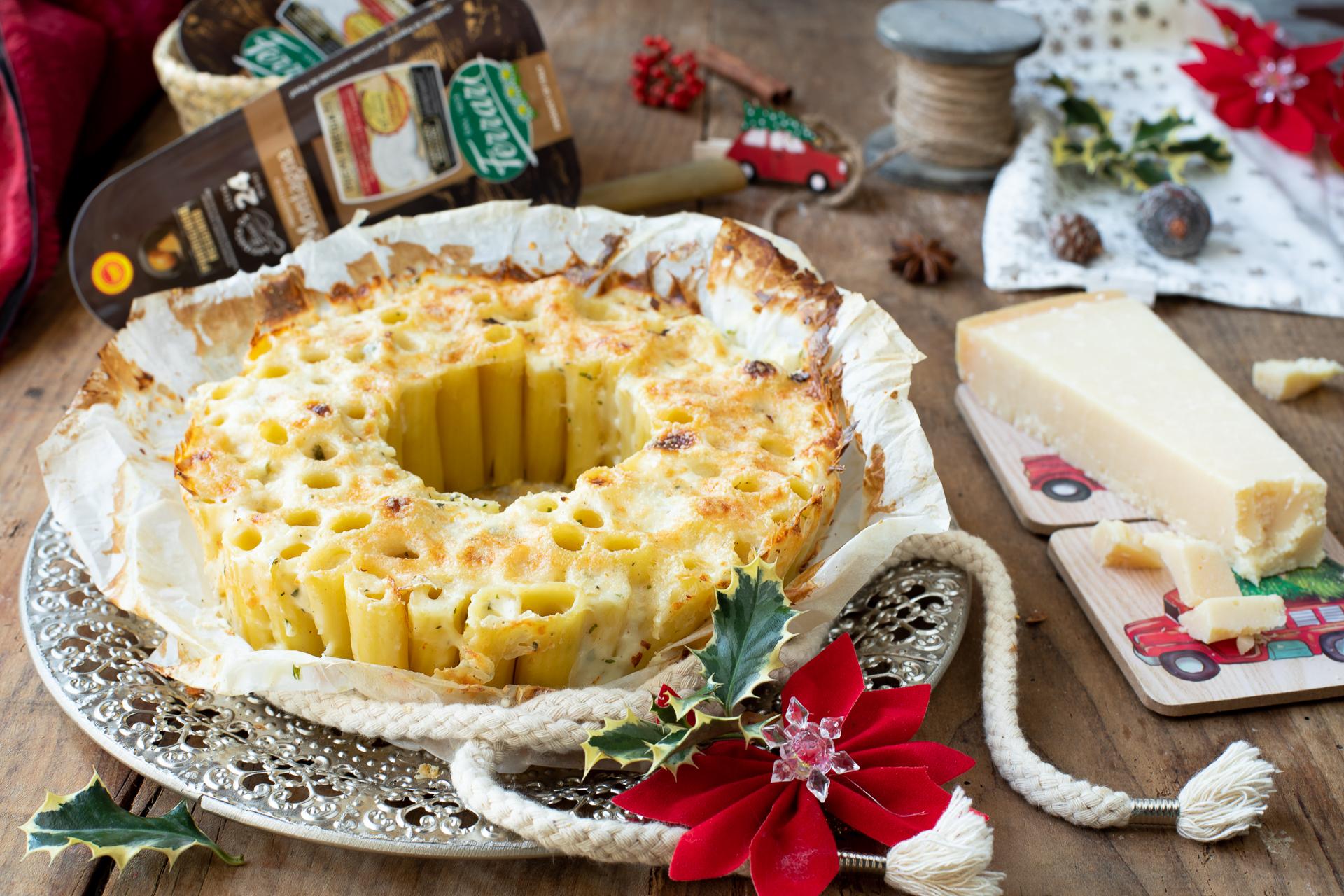 Cosa Cucinare Il 24 Dicembre timballo di pasta con crema al parmigiano reggiano
